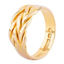 Second Hand 9ct Yellow Gold Intricate Four Row Weave Ring HGM37/03/21(08/19)