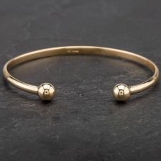 Second Hand 9ct Yellow Gold Torque Bangle 4121183