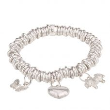 Second Hand Links of London Sweetie Charms and Bracelet 4125111