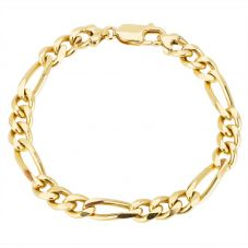 Second Hand 9ct Yellow Gold Figaro Chain Bracelet