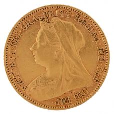 Second Hand 22ct Yellow Gold 1896 Queen Victoria Half Sovereign Coin ELM(106706)18/4/19