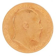 Second Hand 22ct Yellow Gold 1909 King Edward VII Half Sovereign Coin F606091(455) 4130153