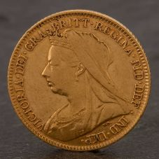 Second Hand 22ct Yellow Gold 1894 Queen Victoria Half Sovereign Coin ELM106947(08/11) 4130167