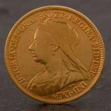 Second Hand 22ct Yellow Gold 1895 Queen Victoria Half Sovereign Coin ELM106947(08/11) 4130169