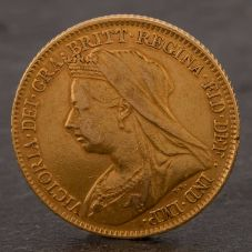 Second Hand 22ct Yellow Gold 1895 Queen Victoria Half Sovereign Coin ELM106947(08/11) 4130171