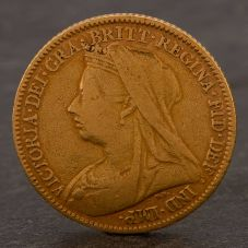 Second Hand 22ct Yellow Gold 1894 Queen Victoria Half Sovereign Coin ELM10647(08/11) 4130196