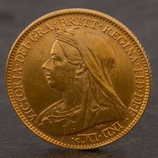 Second Hand 22ct Yellow Gold 1894 Queen Victoria Half Sovereign Coin ELM106947(08/11) 4130198