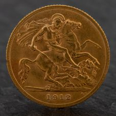 Second Hand King George 1911 Half Sovereign Coin