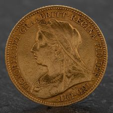 Second Hand Queen Victoria 1900 Half Sovereign Coin