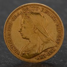 Second Hand Queen Victoria 1895 Half Sovereign Coin