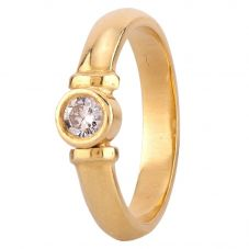 Second Hand 18ct Yellow Gold 0.20ct Diamond Solitaire Ring F511299(442)