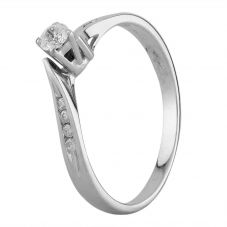 Second Hand 9ct White Gold 0.25ct Diamond Solitaire Ring