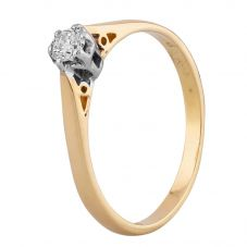 Second Hand Yellow Gold 0.15ct Diamond Solitaire Ring