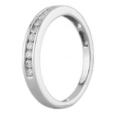 Second Hand 18ct White Gold 0.15ct Diamond Channel Set Half Eternity Ring