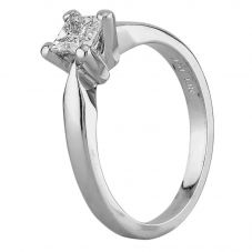 Second Hand 18ct White Gold 0.45ct Princess Cut Diamond Solitaire Ring D516472(450)
