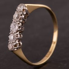 Second Hand Graduated Diamond Five Stone Ring