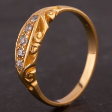Second Hand Ornate Diamond Five Stone Ring