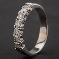 Second Hand 9ct White Gold Diamond Half Eternity Ring 4133933