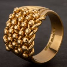 Second Hand 18ct Yellow Gold Five Row Keeper Ring