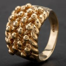 Second Hand 9ct Yellow Gold Keeper Ring 4134185