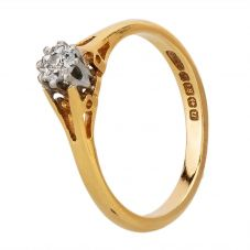 Second Hand 18ct Yellow Gold Diamond Solitaire Ring H511003(436)