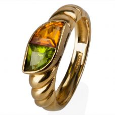Second Hand 18ct Yellow Gold Citrine and Peridot Ring 4146674