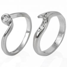 Second Hand 18ct White Gold Diamond Bridal Ring Set 4148610