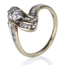 Second Hand 14ct Yellow Gold Diamond Set Fancy Ring 4148642