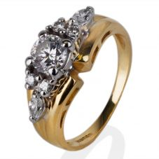 Second Hand Gold Diamond Set Cluster Ring 4148970