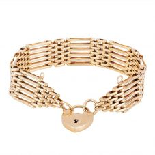 Second Hand 9ct Yellow Gold Six Bar Gate Bracelet