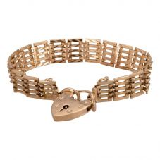 Second Hand 9ct Yellow Gold 5 Bar Gate Bracelet