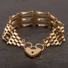 Second Hand 9ct Yellow Gold Gate Bracelet