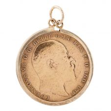 Second Hand 22ct Yellow Gold 1909 King Edward Full Sovereign Coin Pendant L511502(437)
