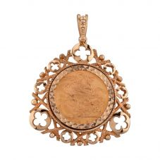 Second Hand 22ct Yellow Gold 1913 Full Sovereign Coin Loose Pendant