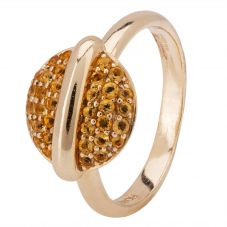 Second Hand Fiorelli 9ct Yellow Gold Citrine Set Ring 4157326
