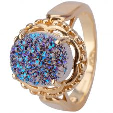 Second Hand 9ct Yellow Gold Glitter Encrusted Ring