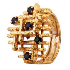 Second Hand 9ct Yellow Gold Sapphire Dress Ring