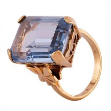 Second Hand 9ct Yellow Gold Synthetic Blue Spinel Dress Ring R517201(447)