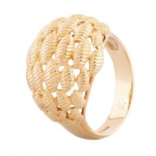 Second Hand 9ct Yellow Gold Fancy Domed Ring