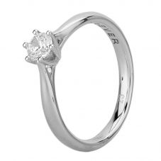Second Hand 18ct White Gold Cubic Zirconia Six Claw Solitaire Ring