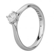 Second Hand 18ct White Gold Cubic Zirconia Four Claw Solitaire Ring