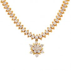 Second Hand 14ct Yellow Gold Diamond Necklet L511563(454)