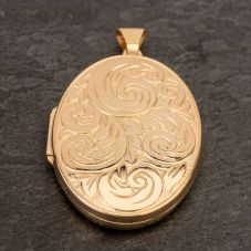 Second Hand 9ct Yellow Gold Large Embossed Loose Locket