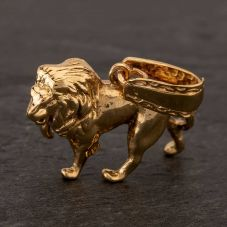 Second Hand 9ct Yellow Gold Lion Loose Pendant