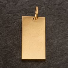 Second Hand 9ct Yellow Gold 1978 Wide Ingot Loose Pendant