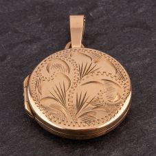 Second Hand Small Round Engraved Locket 4166545