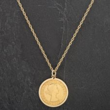 Second Hand 1964 Full Soverign Coin Pendant 4166680