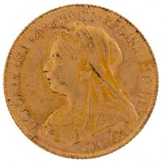 Second Hand 22ct Yellow Gold 1899 Queen Victoria Full Sovereign Coin