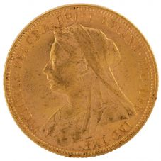 Second Hand 22ct Yellow Gold 1899 Queen Victoria Full Sovereign Coin ELM(106706)18/4/19