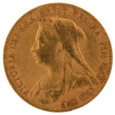 Second Hand 22ct Yellow Gold 1898 Queen Victoria Full Sovereign Coin ELM(106706)18/4/19